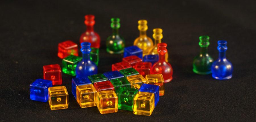 Butelki i kostki wykonane w znany fanom CGE sposób